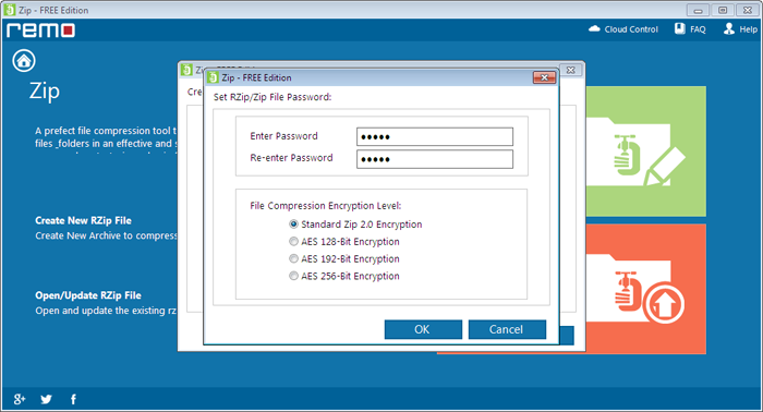 How to Compress PST File? - Password Screen